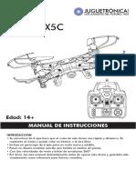 Manual Drone X5C Vcam Hd-2