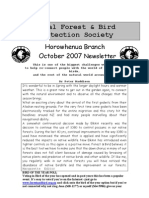 October 2007 Horowhenua, Royal Forest and Bird Protecton Society Newsletter
