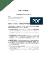 Carta Notarial Para Alcalde