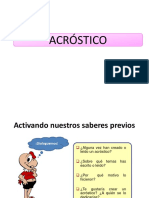 Acrostic o