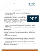 Sickness Absence Management Policy