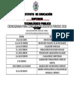 Cronograma Para Concurso de Docentes Iestpo 2018 (1)