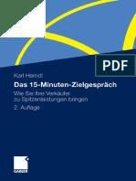 ALEMAN - La Conversación de 15 Minutos Que Hace Que Tus Vendedores Obtengan El Máximo Rendimiento, Karl Herndl