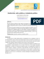 Audiencias, radio pública y ciudadanía política