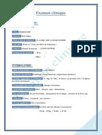 Examen Clinique ODF
