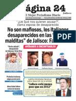 Pagina 24 No Son Mafiosos, Los Italianos