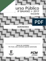 Caderno de Prova - Agronomia - If Baiano
