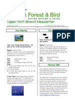 June - July 2010 Upprer Hutt, Royal Forest and Bird Protecton Society Newsletter