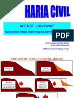 Aula 2-02-02-2016_Empuxos de Terra-Método de Rankine