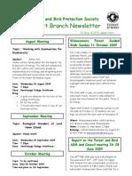 June 2009 Upprer Hutt, Royal Forest and Bird Protecton Society Newsletter