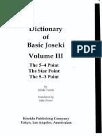 Dictionary of Basic Joseki Vol III-Ishida Yoshio