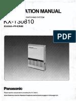 Panasonic KX T30810 Installation Manual CRPF (1)