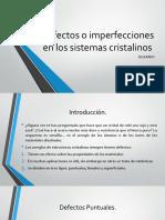 defectosoimperfeccionesenlossistemascristalinos