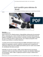 @Santa Catarina Será Modelo Para Sistema de Registro Civil No Brasil - Geral - Diário Catarinense