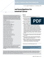 Epidemiology and Investigations for Endometrial Cancer