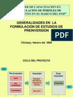 Generalidades Formulación Estudios