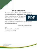 Comunicado 01 2018 Fsm