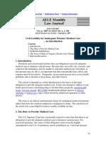 Civil Liability for Inadequate Prisoner Medical Care