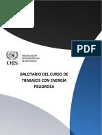 Balotario Del Curso de Trabajos Con Energía Peligrosa