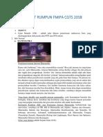 Booklet Rumpun FMIPA CGTS 2018