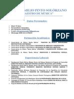 Carlos Pinto c.v (Actualizado 2018)