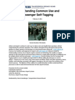 ACRP Understanding Common Use and Passenger Self-Tagging