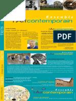 Programme Ensemble LArt Contemporain Trets 2018
