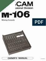 Tascam M106 Manual Schematic