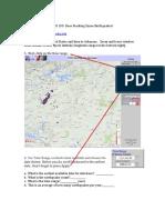 GEO 103 Earthquakes Fracking Homework