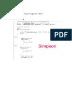 Metode Simpson Dengan Menggunakan Bahasa C