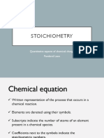 Ponderal Laws and Stoichiometry