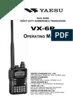 Yaesu VX-6R Operation Manual