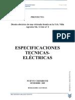 Memoria Descriptiva Final de Instalaciones Electricas