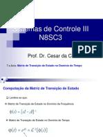 8.a Aula _N8SC3_Computação Da Matriz de Transição de Estado