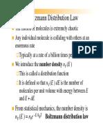 Boltzmann Distribution Law