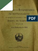 Ateneo de Guatemala a Los Próceres de La Independencia de Centro-América