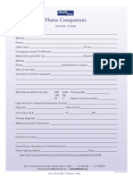 Phone Intake Form