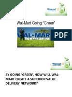 Wal Mart Going Green