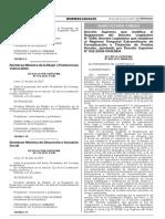 Decreto Supremo Que Modifica El D. Leg. 1089
