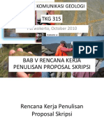 Bab 05-Rencana Kerja Penulisan Proposal Skripsi