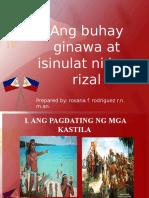 Ang Buhay Ginawa at Isinulat Ni Jose Rizal