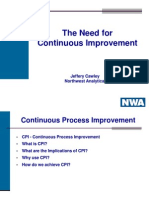 IFT2003-The Need for Continuous Improvement