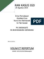 LAPKAS IGD 25 Agustus 2015-Erma, Izza, Nurul, Tati