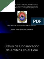 Zoo Expoclase, Status de Conserv. de Anfibios Perú