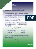 3. Generadores de Numeros Aleatorios Uniformes