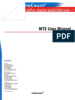 MetroCount MTE User Manual2