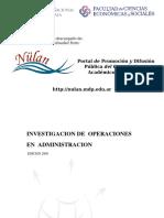 INVESTIGACIÓN DEOPERACIONES EN ADMINISTRACIÓN