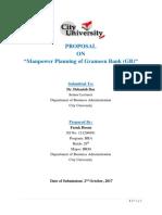 Manpower Planning Proposal