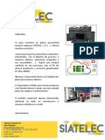 Carta de Presentación Siatelec
