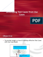 Developing Test Cases From Use Cases